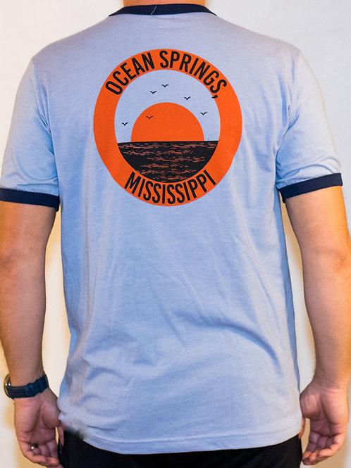 Camp Tee Ocean Springs MS - Jersey Short-Sleeve Ringer T-Shirt