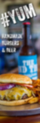 Handmade burgers and beer served at The Blind Tiger in Bay St. Louis, Mississippi