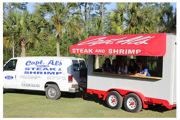 "Captain Al's Steak & Seafood Restaurant – the home of ""THE ORIGINAL"" Surf & Turf on the Mississippi Gulf Coast since 1993. Located in Gulfport, MS"