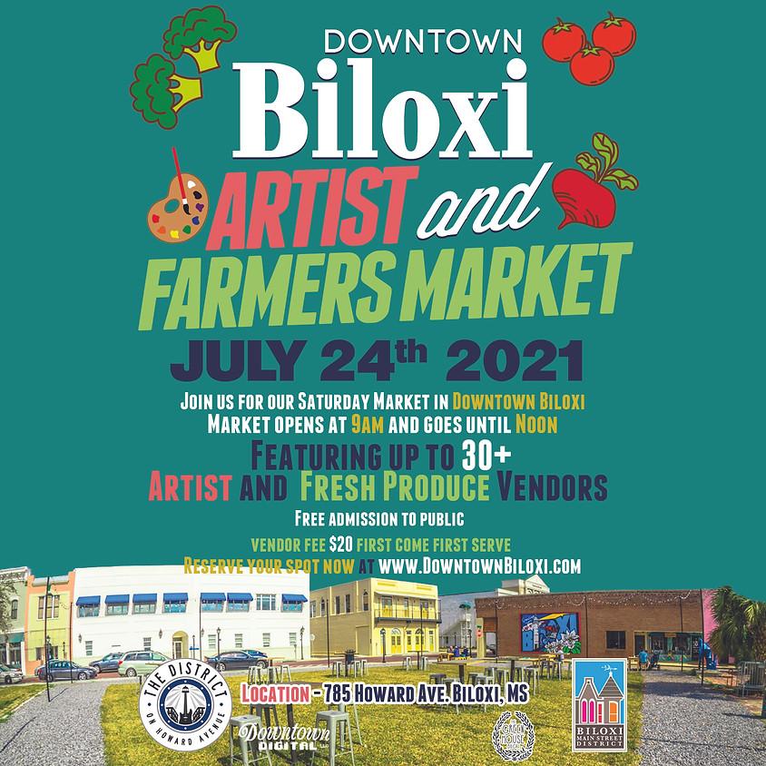 Downtown Biloxi Artist & Farmers Market - July 2021.