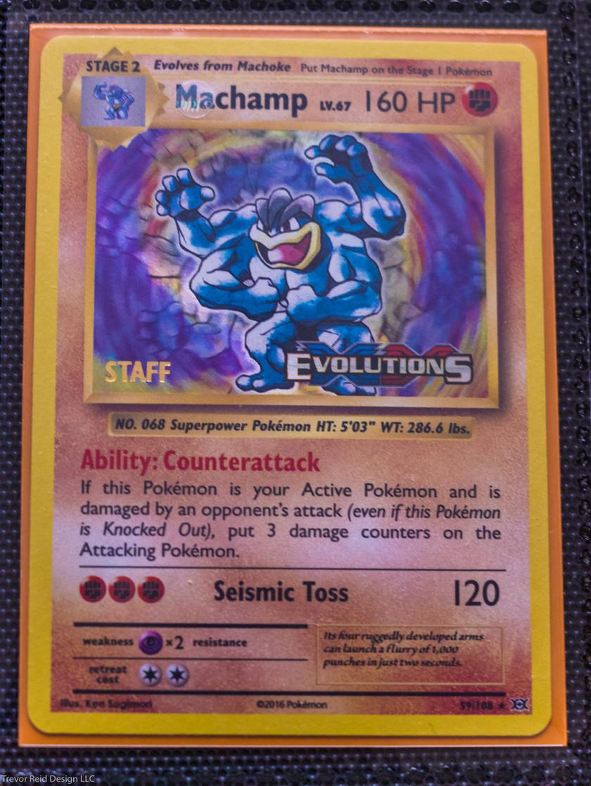 Prerelease Staff Stamp Pokemon XY Evolutions Master Collection