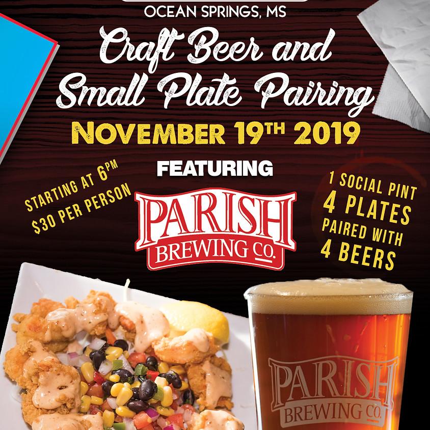 Parish Brewing Beer Pairing - Ocean Springs