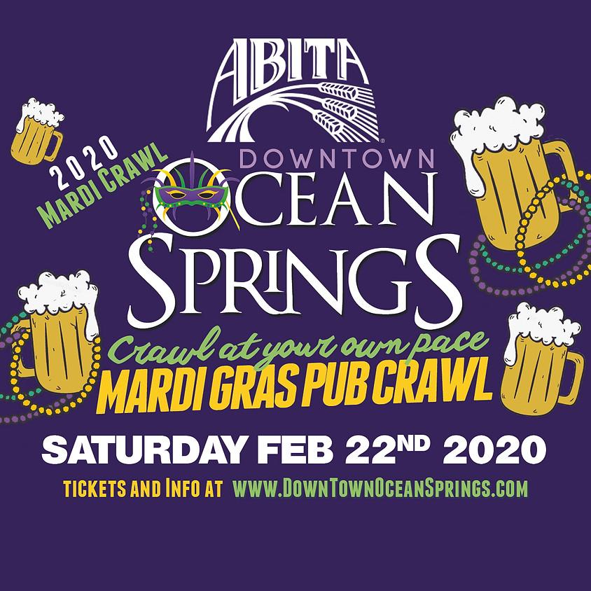 "Abita Downtown Ocean Springs ""Crawl at your own pace"" Mardi Gras Pub Crawl"
