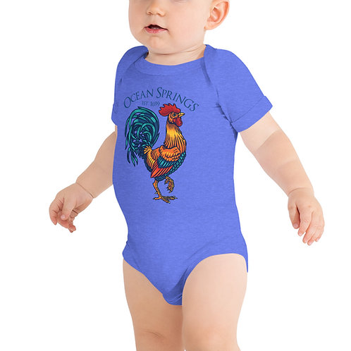 """Official """"Carl"""" the Rooster Baby short sleeve one piece"""