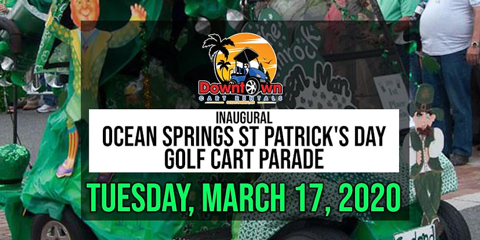 Inaugural Ocean Springs St Patrick's Day Golf Cart Parade