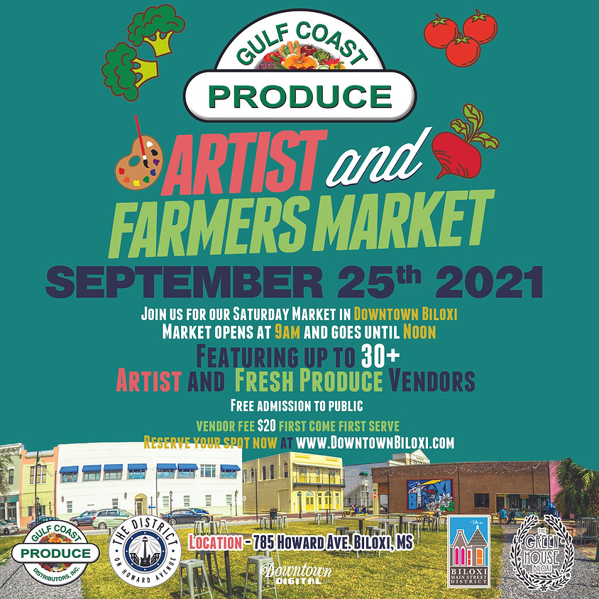 Gulf Coast Produce Artist & Farmers Market - September 2021