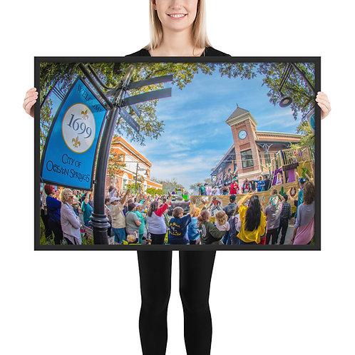 Mardi Gras Framed photo paper poster