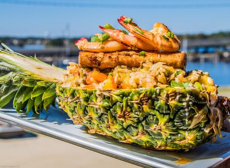 Mahi Stuffed Pineapple. New menu item. Captain Al's Gulfport