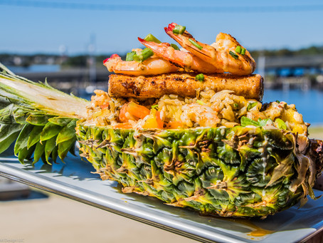 Mahi Stuffed Pineapple. New menu item. Captain Al's Gulfport