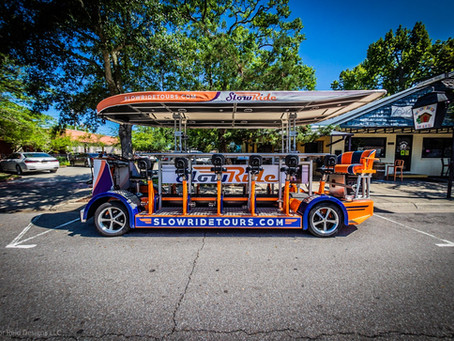 Slow Ride Pedal Tours Downtown Ocean Springs