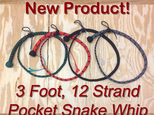 Pocket Snake Whip - 3 ft, 12-strand