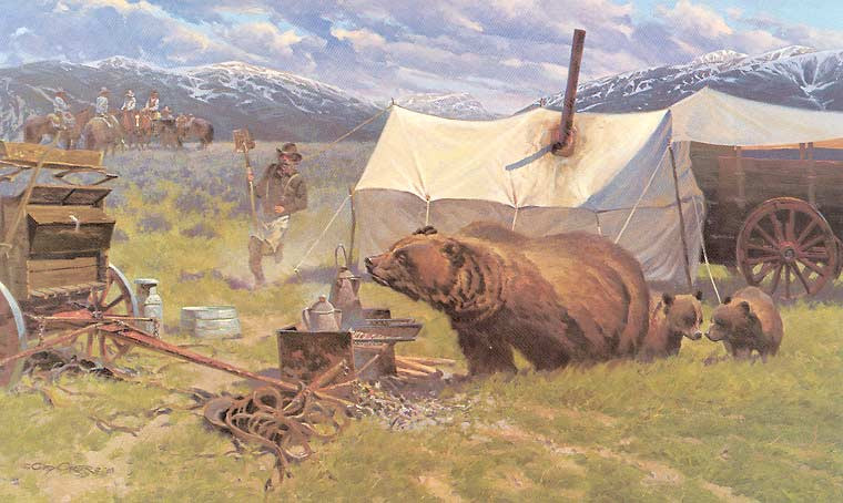 Gary Carter Western Art - grizzly bear - Come n' Get It