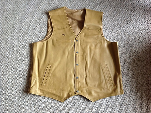 Tan leather CCW concealed carry vest