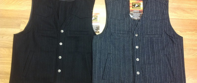 Wool Pinstripe Concealed Carry Vest