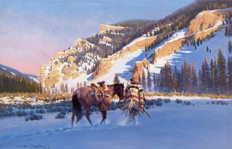 Gary Carter Limited Edition Print - In the Yellowstone