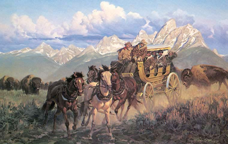 Gary Carter Yellowstone art print - White Knuckle Tours