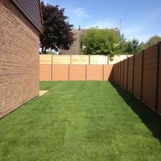 pelouse, clôture