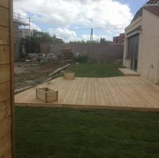terrasse, pelouse