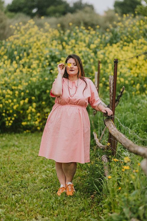 שמלת אביב ורודה