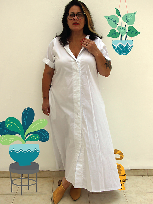 שמלת אלינור לבנה