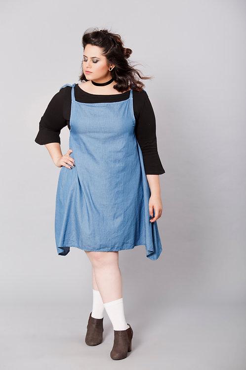 שמלת עינת סרפן ג'ינס בהיר