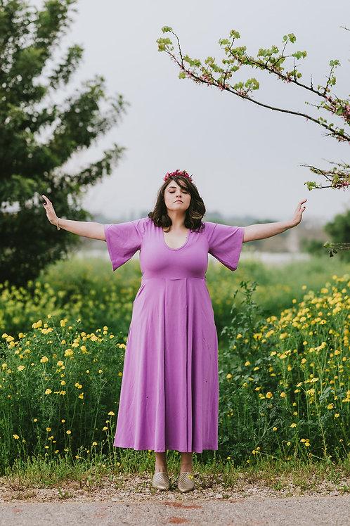 שמלת  מישל מקסי סגולה
