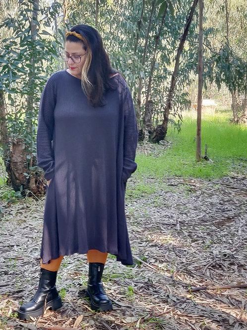 שמלת חיבוקי אפורה