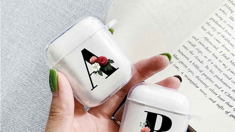 Clear Cute Flower Earphone Accessories Cover