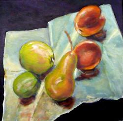 Fruit on cloth