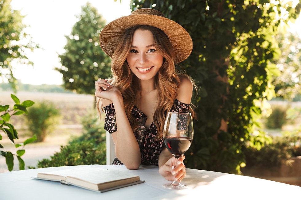 Stock Photo - Woman drinking wine.jpeg