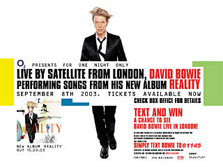 David Bowie Live To Cinemas