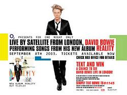 David Bowie Live To Cinemas