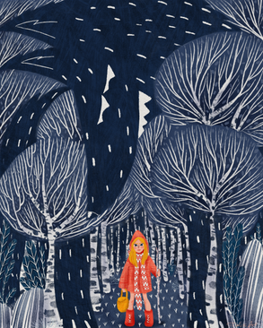 R is for Red riding hood