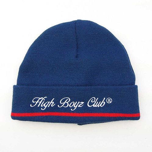 HIGH COMPANY BEANIE CLUB SCRIPT BLUE