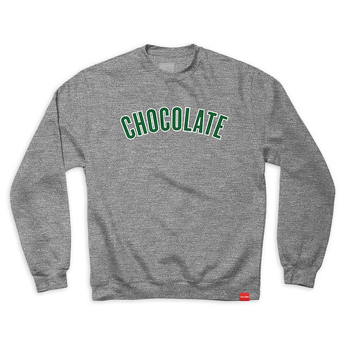 CHOCOLATE LEAGUE CREW GUNMETAL HEATHER