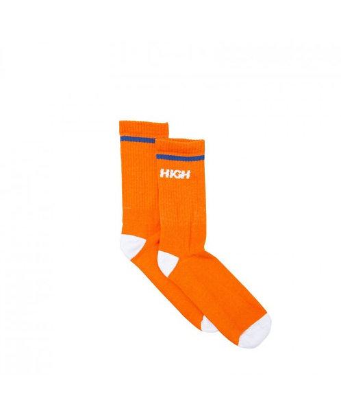 HIGH COMPANY Socks Logo Orange