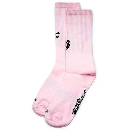 STRAYE FU SOCKS LIGHT PINK