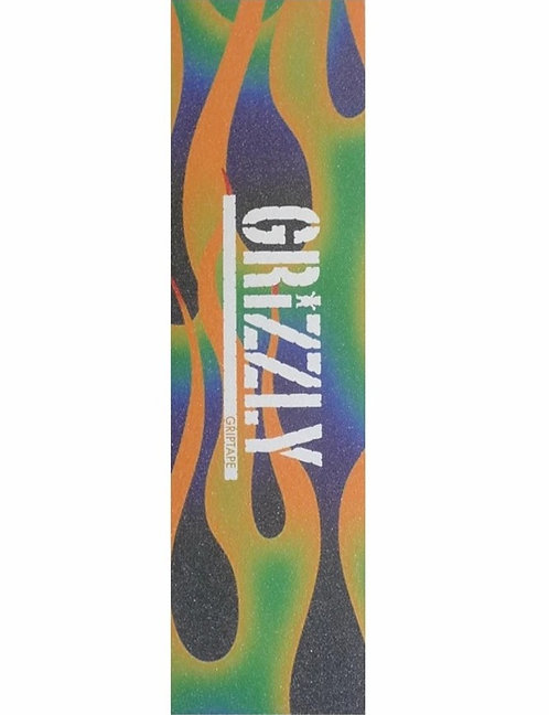 GRIZZLY GREEN FIRE  STAMP GRIPTAPE