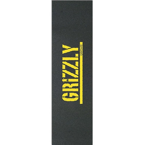 GRIZZLY STAMP PRINT GRIPTAPE YELLOW