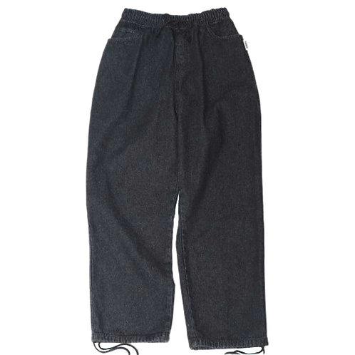 LESQUE Wide denim pants BLACK