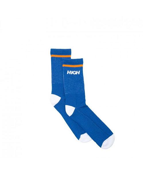 HIGH COMPANY Socks Logo Blue