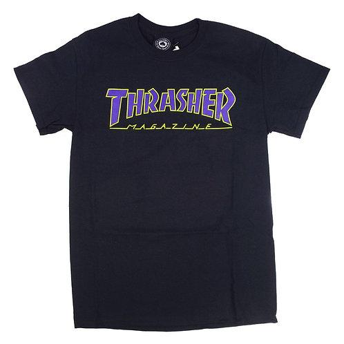 THRASHER OUTLINED T-SHIRT BLACK