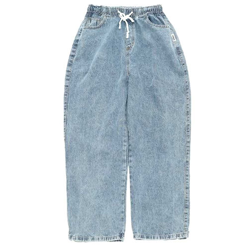 LESQUE Wide denim pants BLUE