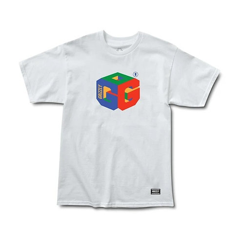 GRIZZLY G64 S/S TEE WHITE