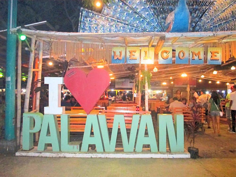 Night market at Puerto Princesa