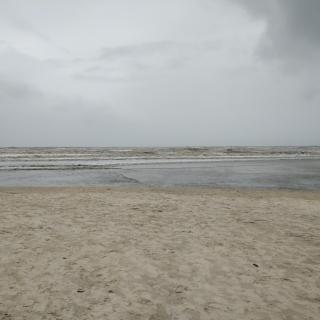 An empty Betalbatim beach in Goa during the rains!