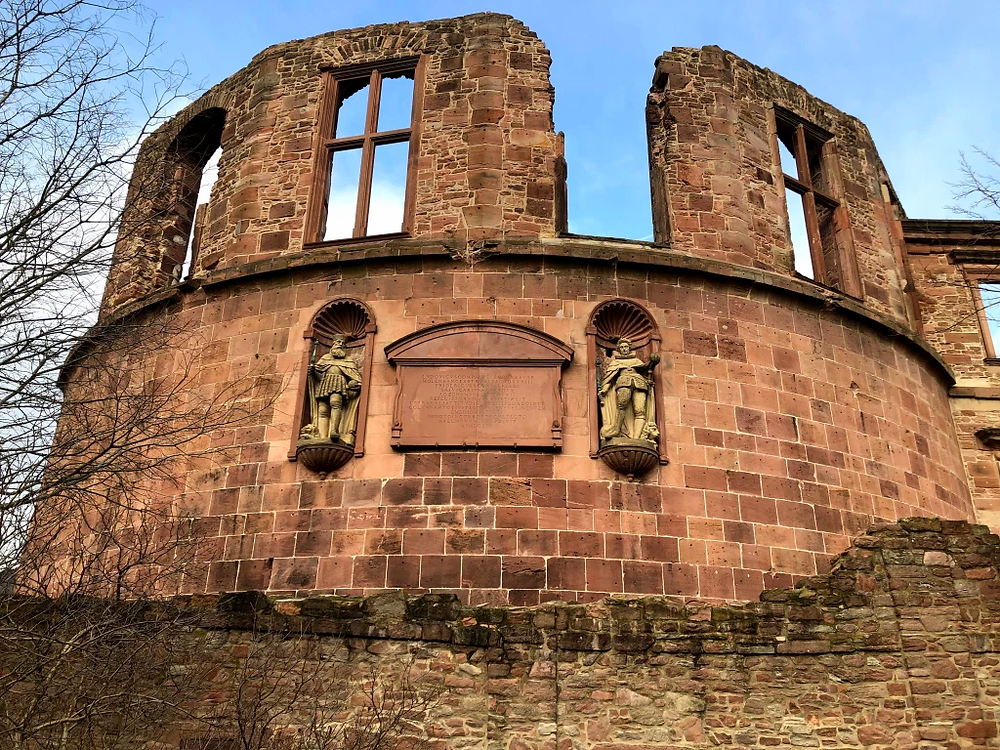 The ruins of the castle at Heidelberg