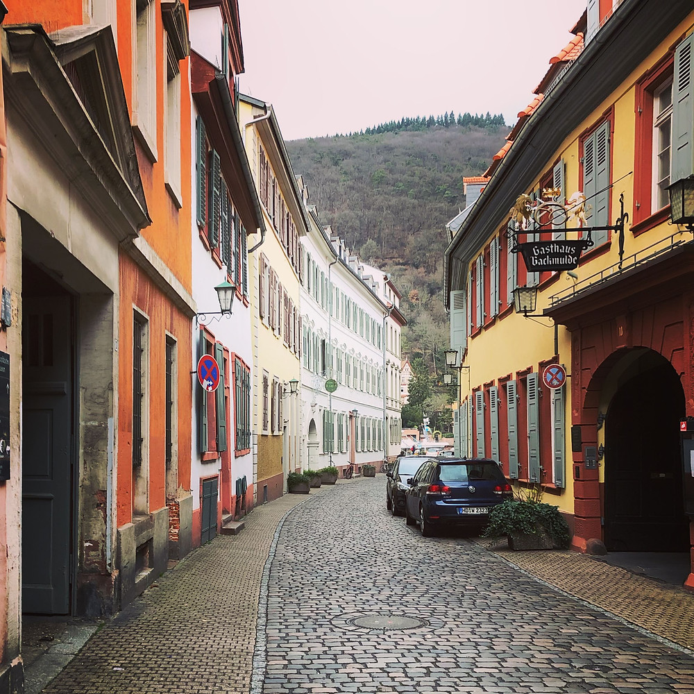 Narrow winding lanes of Heidelberg similar to those all around Europe, give nostalgia to visitors!