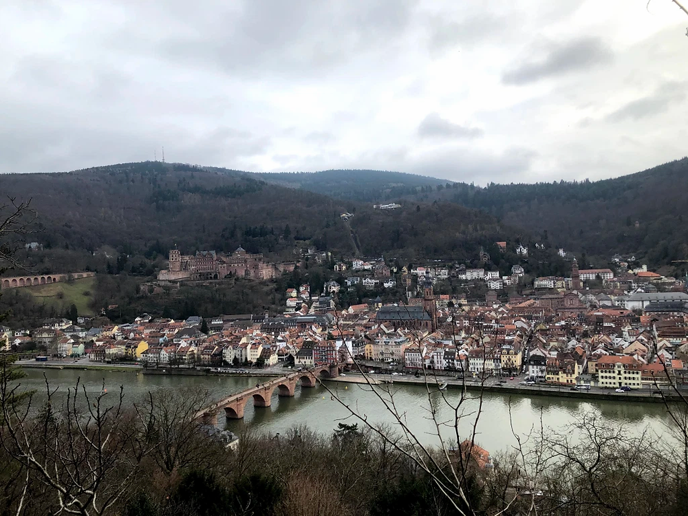 To view the Heidelberg Schloss completely, take a short climb on to Philosophenweg. You can see an unparalleled view of the castle as well as the city of Heidelberg from here!