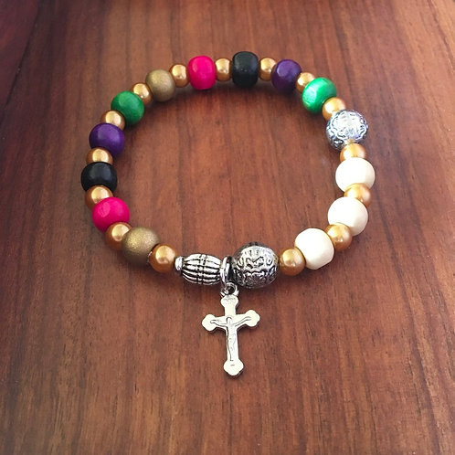 Colorful Rosary Bracelet